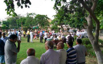 हुडा (HUDA) द्वारा भेजी गई एन्हांसमेंट के विरोध में सेक्टर 8 वासियों की मीटिंग