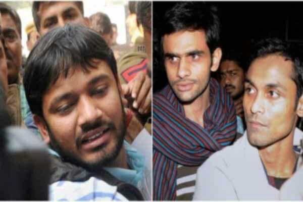 Umar expelled in J N U case, fined on Kanhaiya