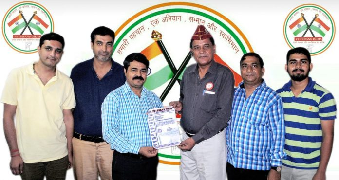 Deepak Sharma appointed Haryana State Media Coordinator of Veterans India