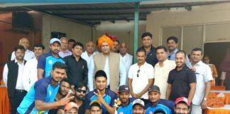 Ravindra Phagna Academy's possession on T20 trophy