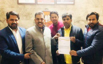 सुमित चंदेल बने भारतीय जनता युवा के जिला महामंत्री
