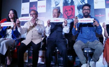 """शास्त्री परिवार और फिल्म की स्टार कास्ट ने दिल्ली में किया विवादित फिल्म 'द ताशकंद फाइल्स' का प्रचार"""""""