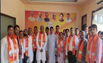गोपाल शर्मा ने कराए कांग्रेस के कार्यकर्त्ता BJP में शामिल