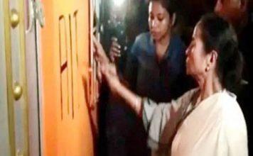ममता बनर्जी ने BJP दफ्तर का तुड़वाया ताला, खुद पेंट किया पार्टी का नाम