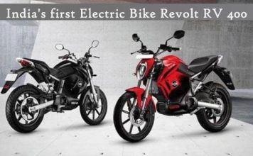 India's first Electric Bike Revolt RV 400