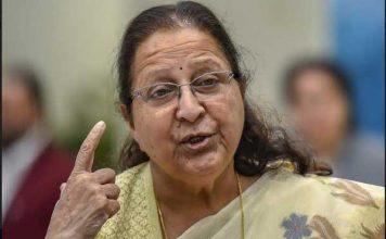 सुमित्रा महाजन ने रेलवे मसाज सर्विस पर उठाए सवाल