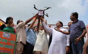 पर्यावरण मंत्री विपुल गोयल ने अरावली को हराभरा बनाने के लिए ड्रोन से बीजों का किया छिड़काव