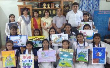 युवा पखवाड़े में स्लोगन द्वारा जल शक्ति जागरूकता अभियान