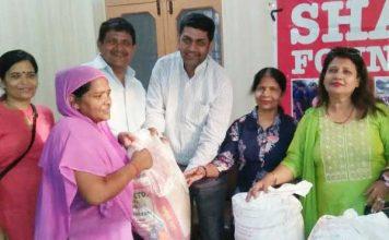 शरद फाउंडेशन ने छठी बार किया गया अन्न वितरित