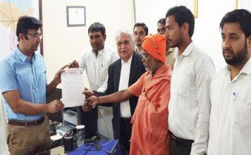दिल्ली पुलिस के खिलाफ फरीदाबाद के समाजसेवियों ने दिया ज्ञापन