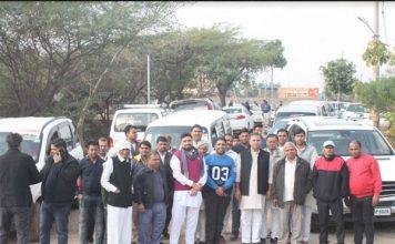 हजारों समर्थकों के साथ 'भारत बचाओ रैली' में पहुंचे विजय प्रताप